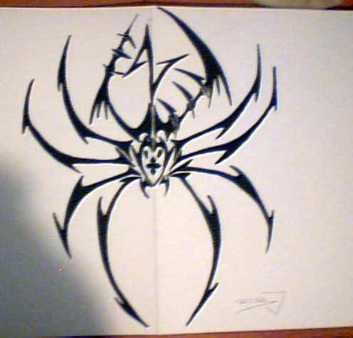 tribal spider by backooo on DeviantArt
