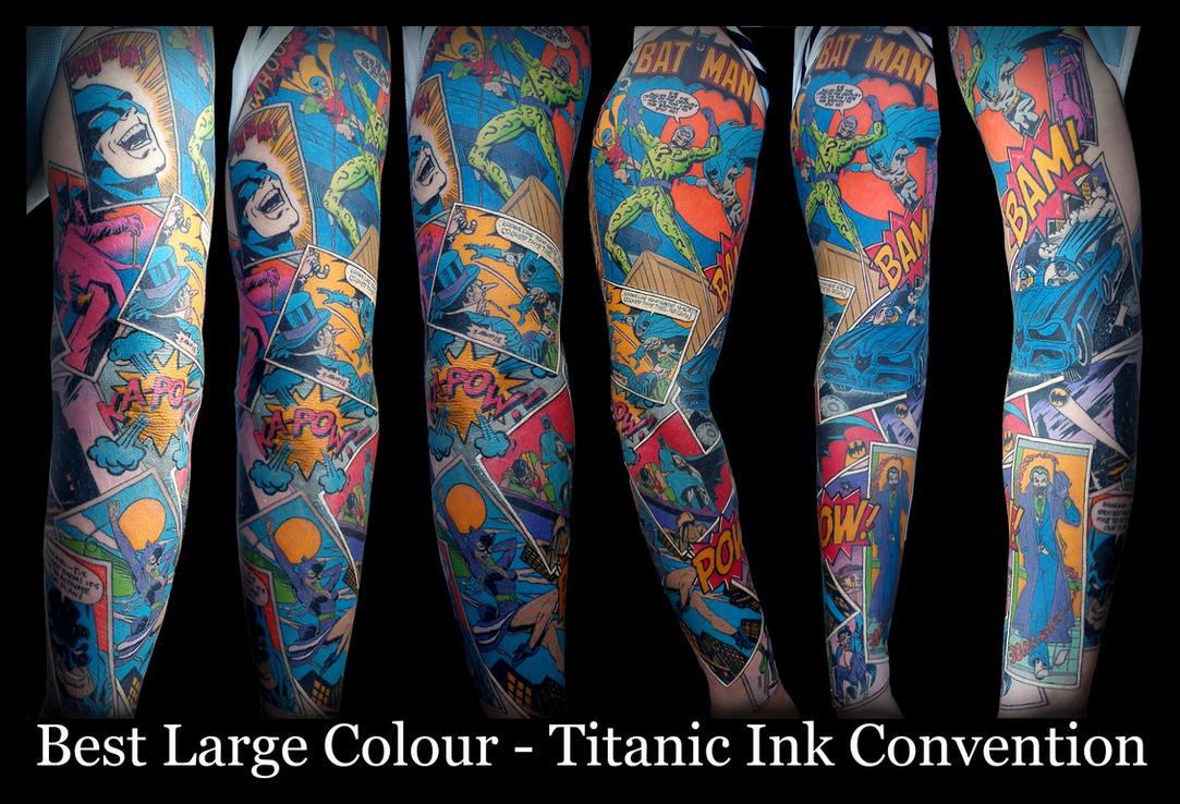 Batman Comic Sleeve by IanInkTattoo