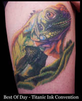 Award Winning Lizard Tattoo by IanInkTattoo