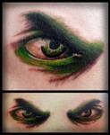 Realism Hulk Eye Tattoo