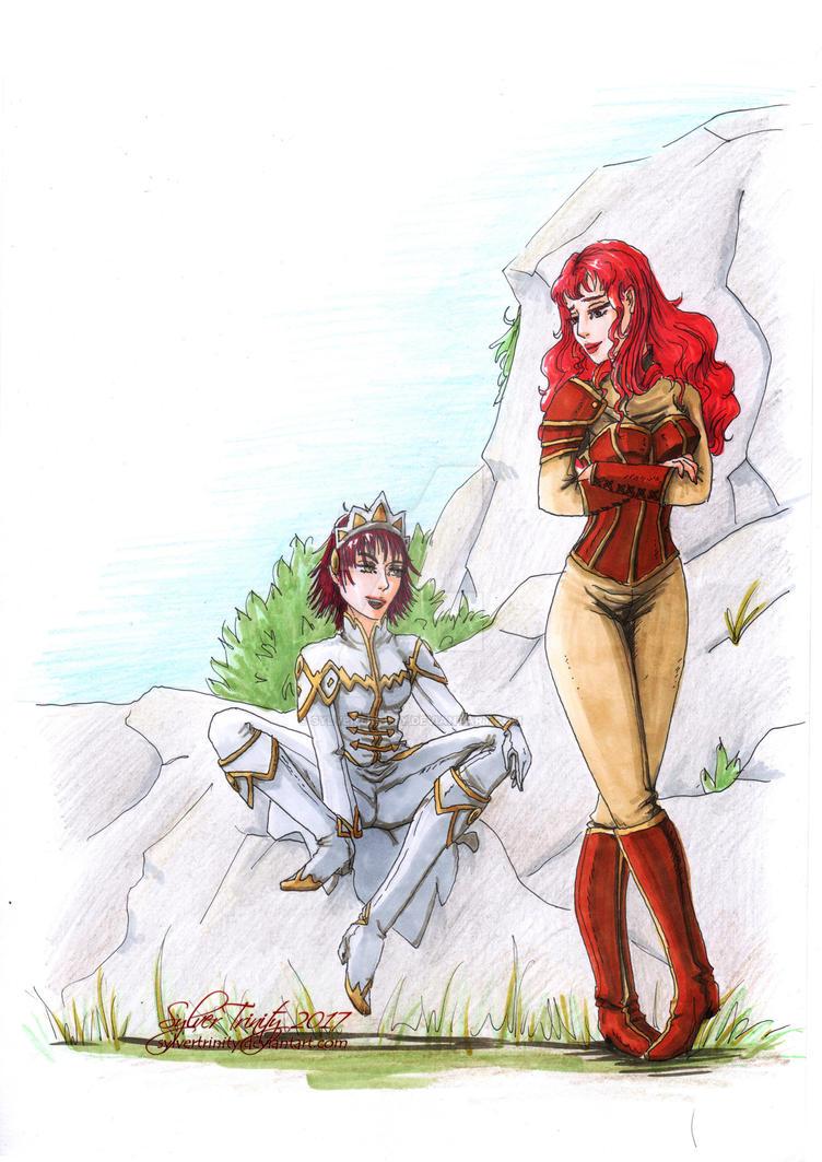 Rena and Raska by SylverTrinity