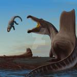 Spinosaurus and Laganosuchus