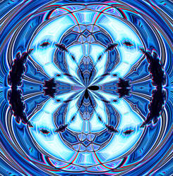 Amecylia-Abstract-1-Blue-Circular by amecylia