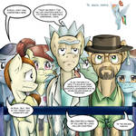 Rick and Morty... And walter... In Equestria.
