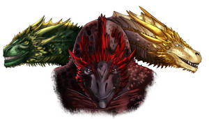 GoT: Drogon, Rhaegal, Viserion