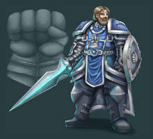 Commission: silver hand paladin