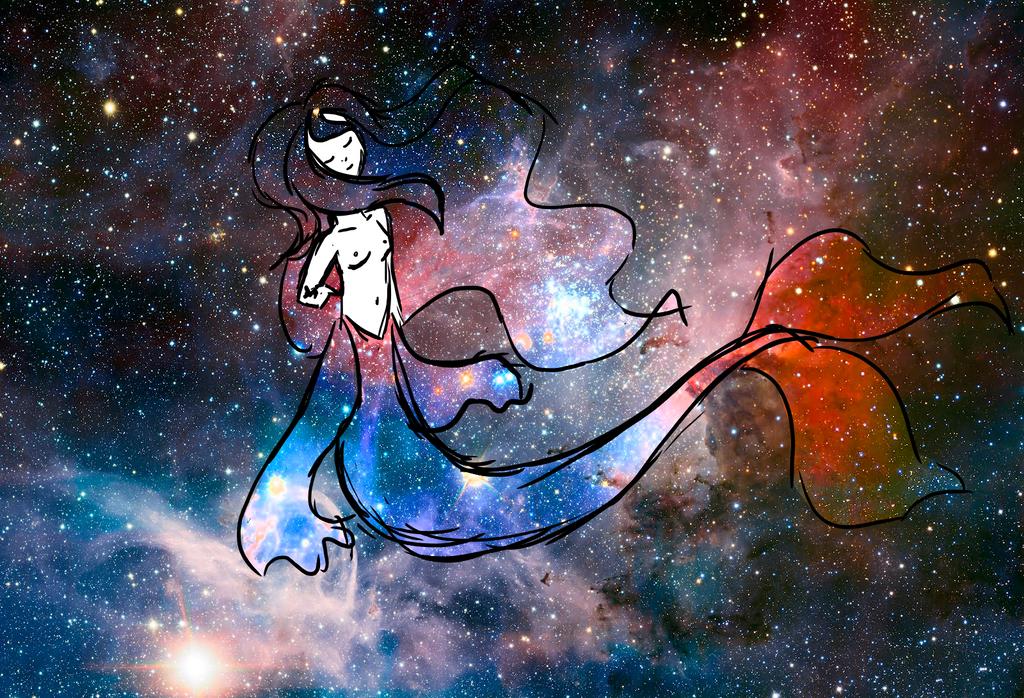 Space Mermaid by AlbinoKiwi47