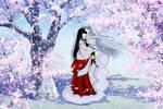 Fluttering Cherry Blossom