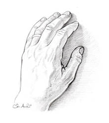 Sketchtember Day 4- My Left Hand
