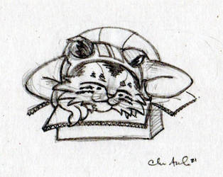 Sketchtember Day 9- MEOW in a Box