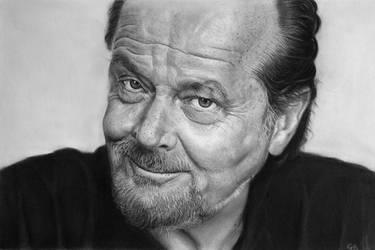 Jack Nicholson portrait (Pencil drawing)