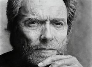 Clint Eastwood portrait (pencil drawing)