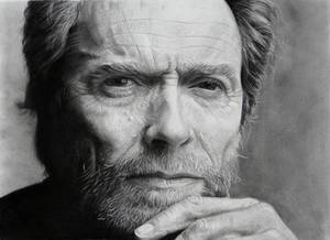 Clint Eastwood portrait (pencil drawing)