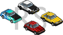 Toyota AE86 Pixel by DorifutoRabbit