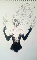 Inktober Day 19 | Scorched by Mayanahoney