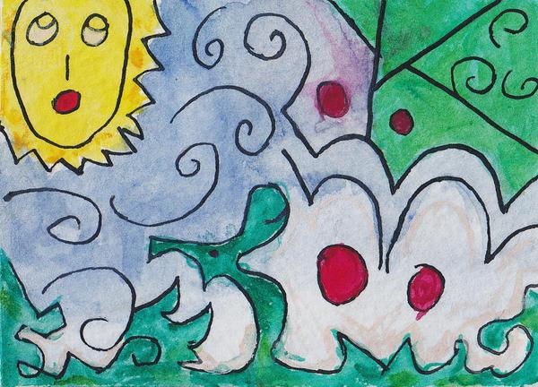 doodle 3 atc aceo by amberhlynn
