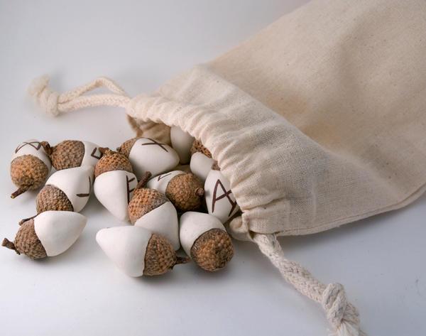 acorn elder futhark runes by amberhlynn