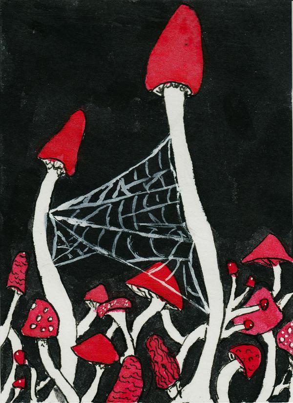 Red Spools Of Mushrooms - artaway giveaway 3 by amberhlynn