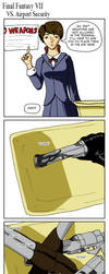 FFVII vs Airport Security 01 by irish-brigid