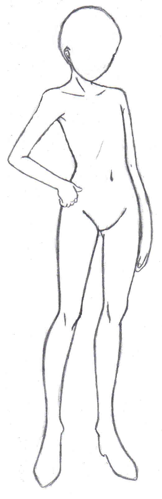 Anime Male Body Template