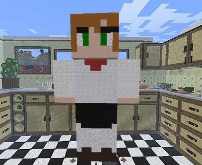 {G} Arashi chef attire (mc pixel art) by shayley02