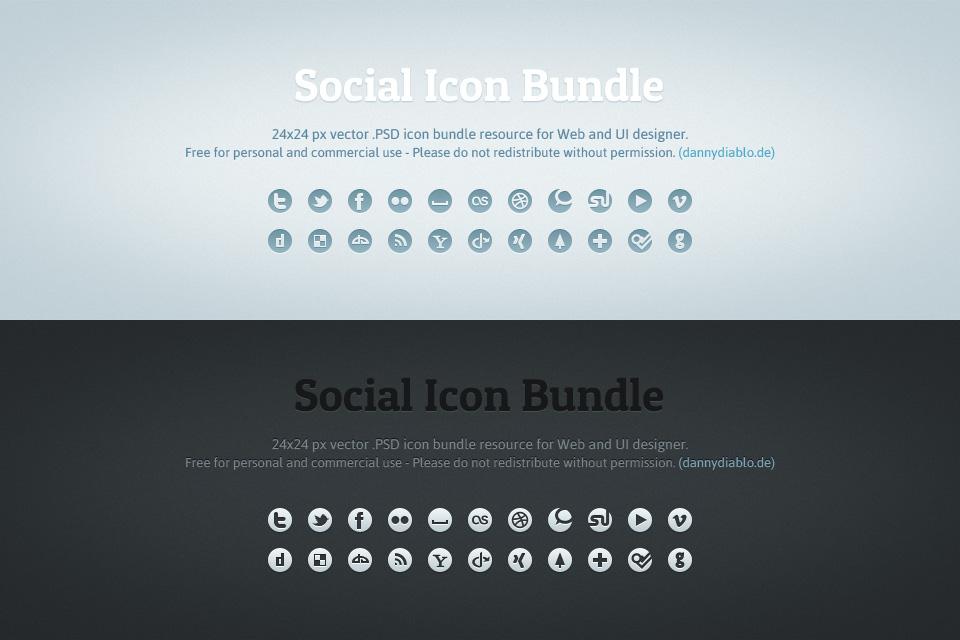 Social Icons by dannyknaack