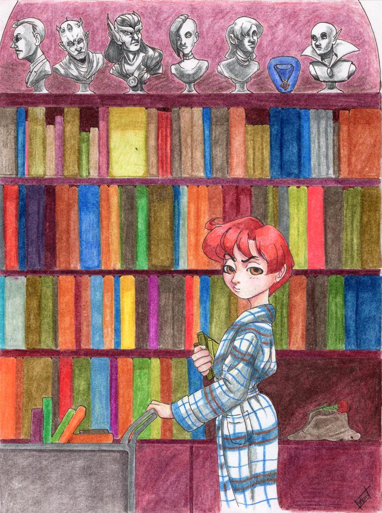 The Library by digitalphooka