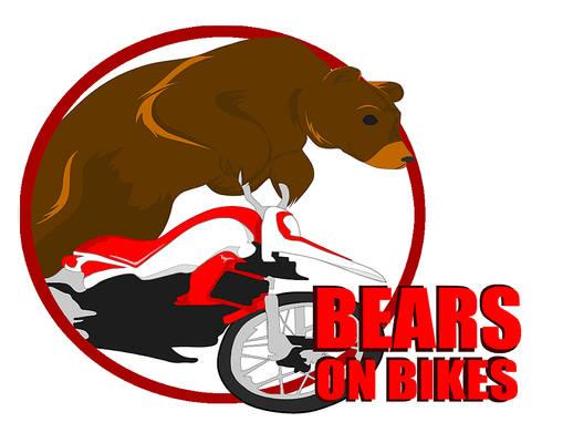 D - Bears on Bikes Logo