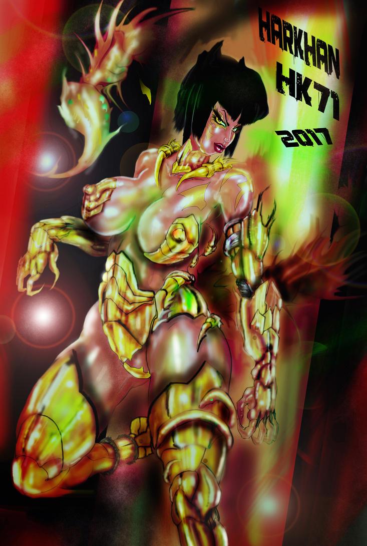 scorpion goddess by HARKHAN71