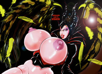 Maleficent boobs by HARKHAN71