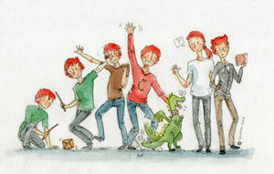 Weasley brothers by button-bird