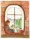 Her reading nook