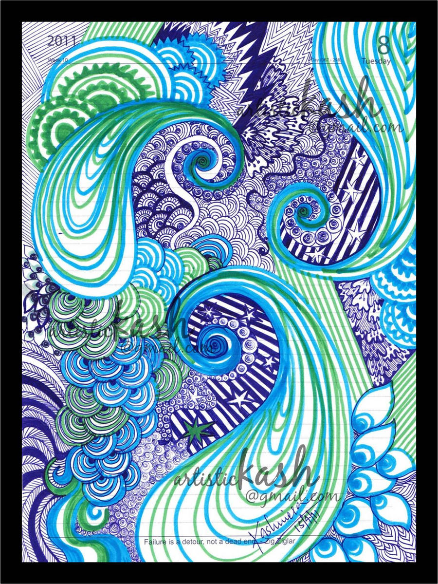 abstract peacocks by kashunutz traditional art drawings illustration ...