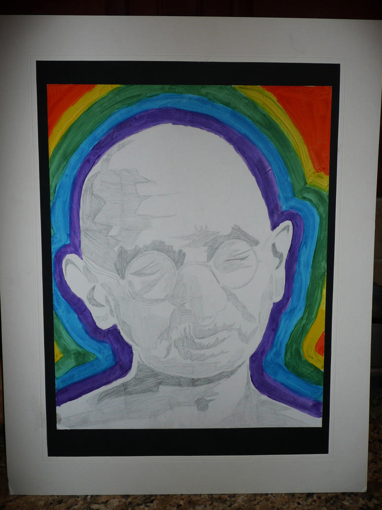Psychedelic Gandhi by DTrain2695