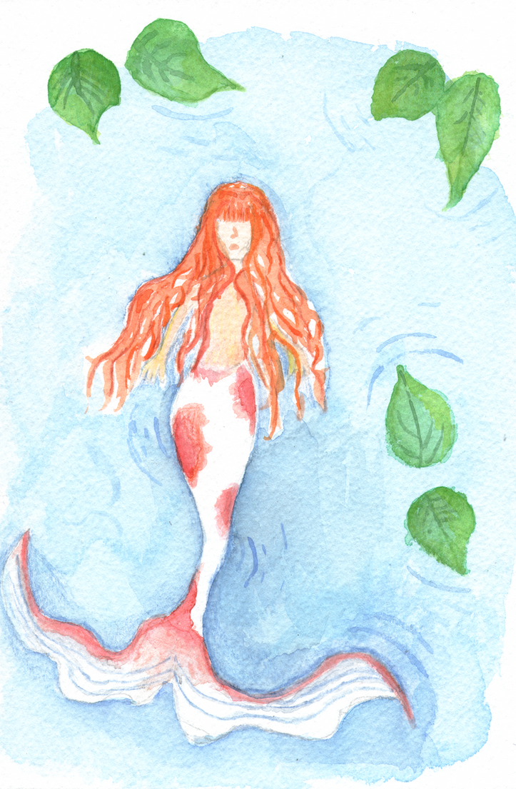 Koi Mermaid by Penholderart