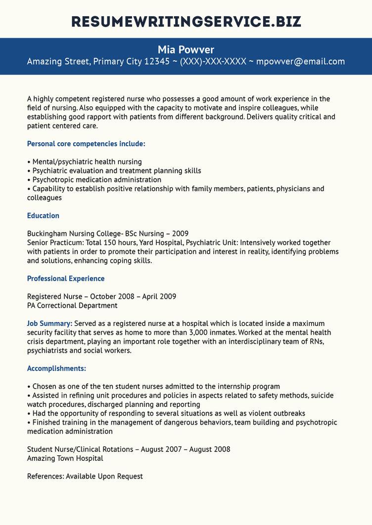 RN Resume Sample by resume-writing on DeviantArt