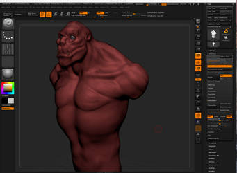 Practice Zbrush making a Creature by IAm2