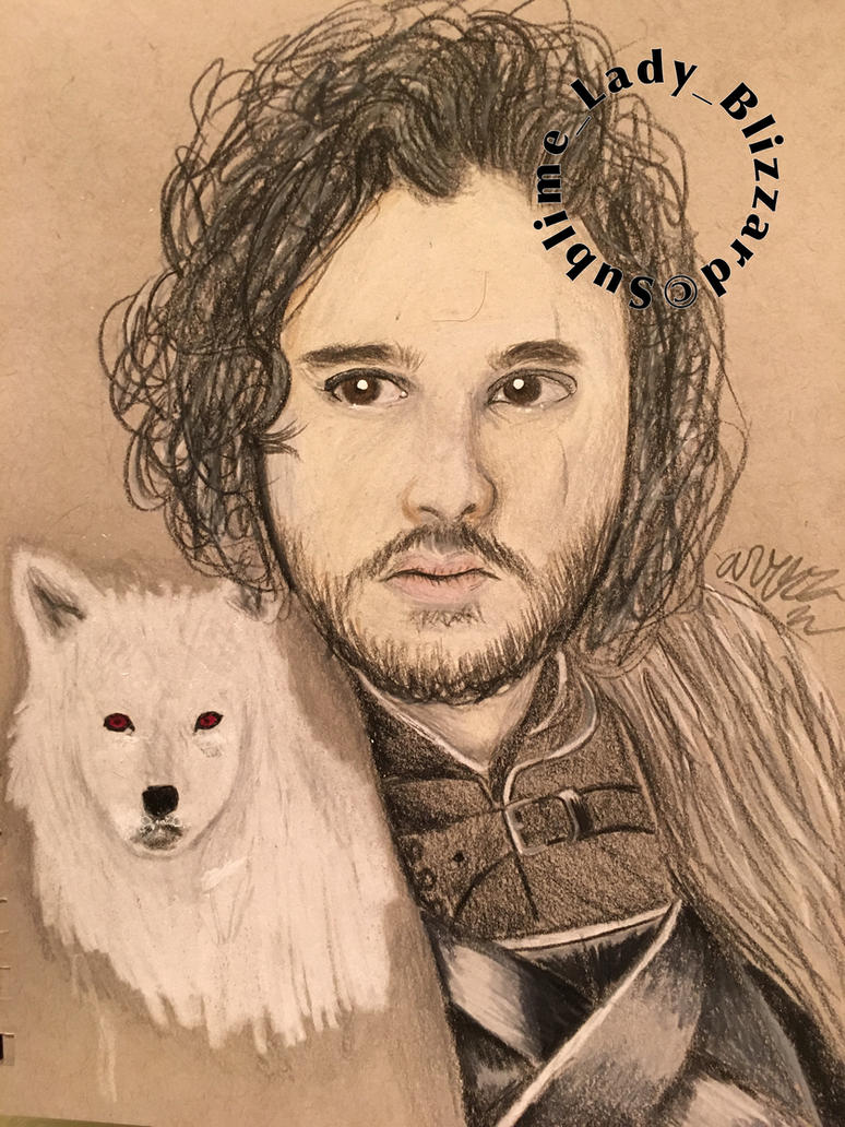 Jon Snow and Ghost by xXPhantomReaperXx