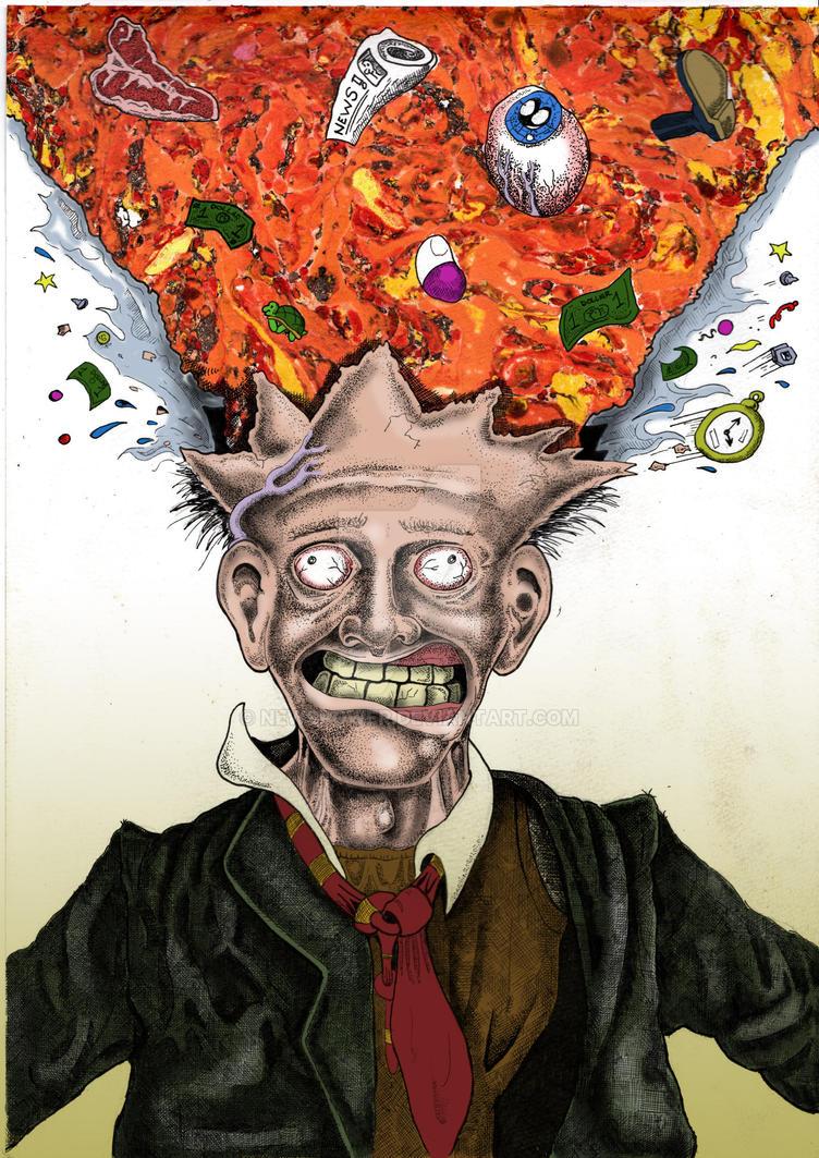 JK Panik Exploding head by Newspower