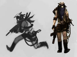Desert Cyberpunk Scavenger by MaximLardinois