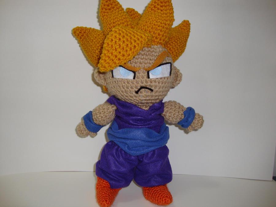 Arjeloops Dargon Ball Gohan Crochet Doll by Arjeloops