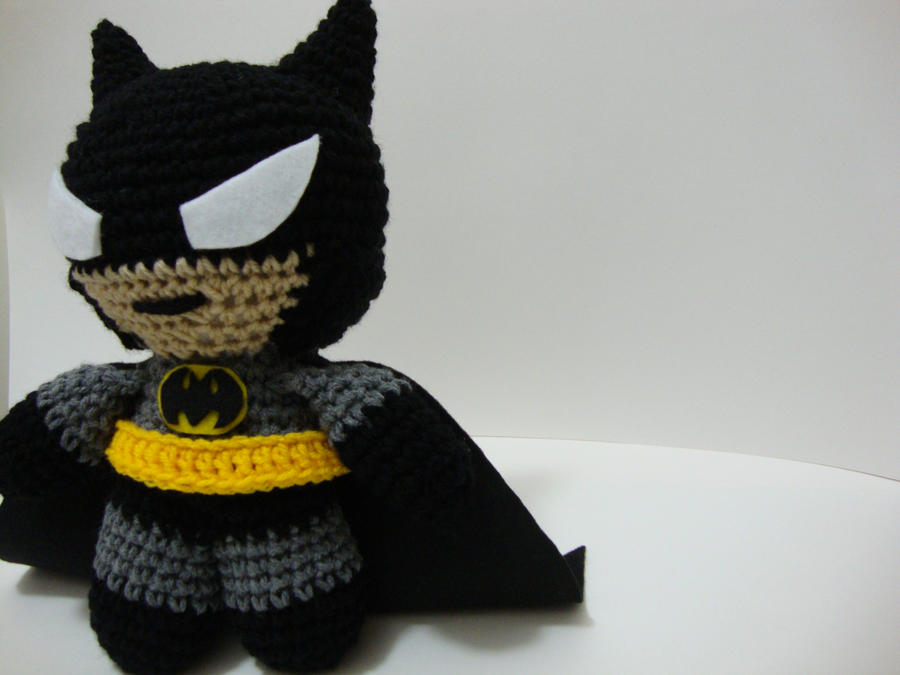 Amigurumi Crochet Batman : Arjeloops Batman Crochet Doll by Arjeloops on DeviantArt
