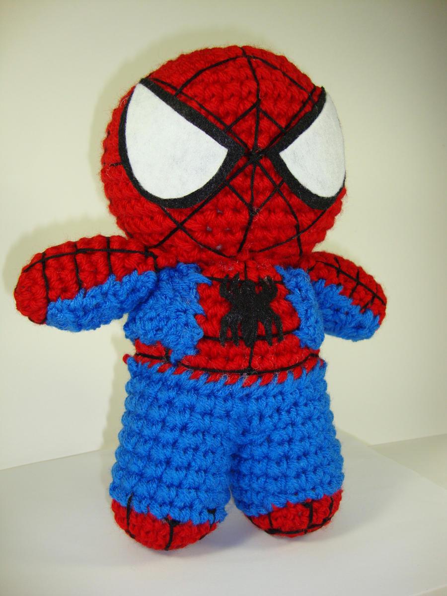 Knitting Pattern For Spiderman Doll : Arjeloops Spiderman Crochet Doll by Arjeloops on DeviantArt