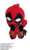 Arjeloops Deadpool Crochet Doll