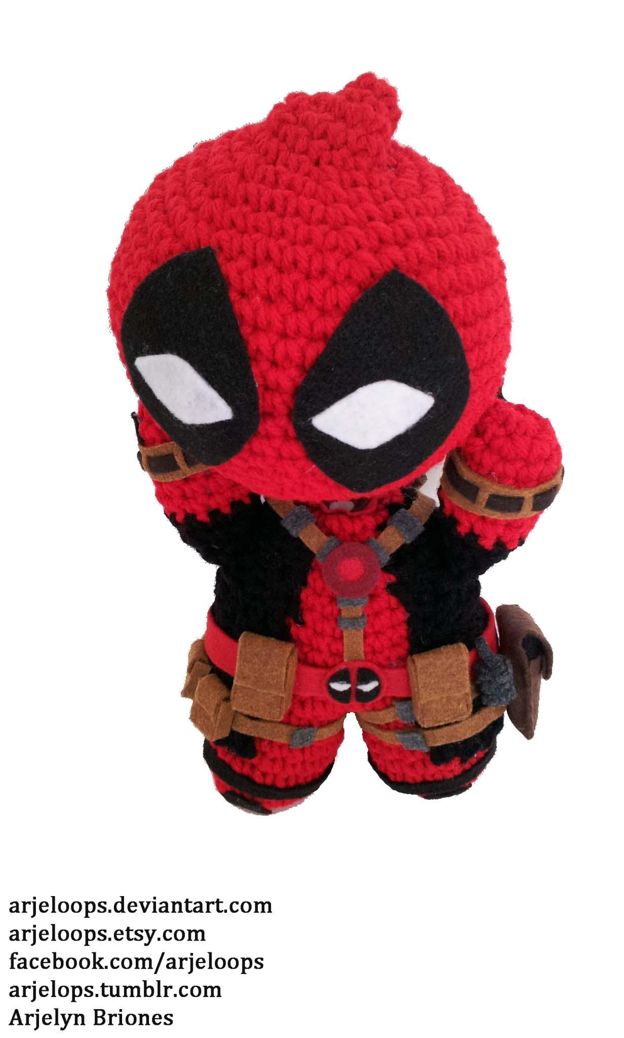 Crochet Wedding Dress Pattern Doll : Arjeloops Deadpool Crochet Doll by Arjeloops on DeviantArt