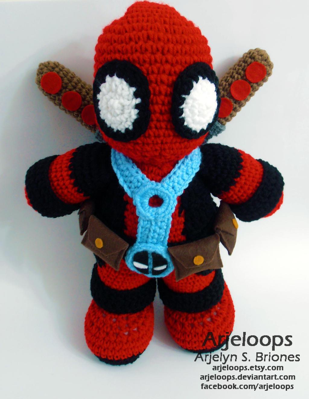 Deadpool Crochet Plushie by Arjeloops on DeviantArt