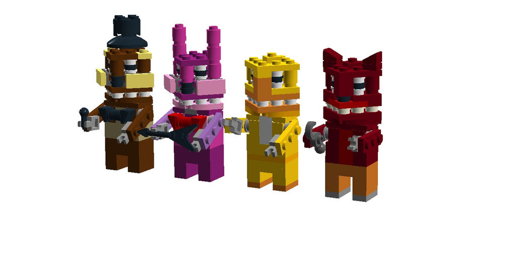 Five nights at freddy s lego characters by geocachertanner on
