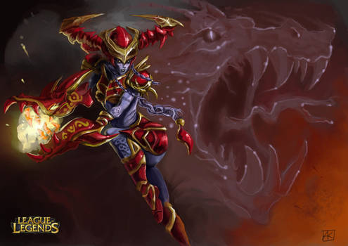 Riot Art Contest 2014 - Shyvana illustration