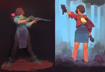 gungirls by nbekkaliev