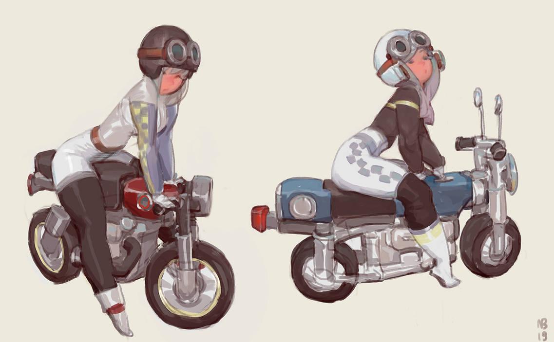 Bike girls by nbekkaliev